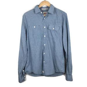 Levi's | Mens Slim Fit Blue Button Down Medium
